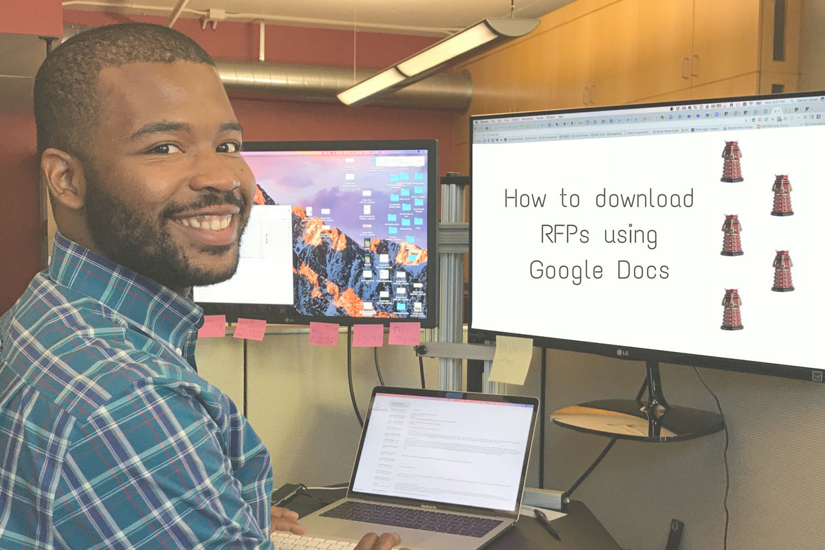 During this tutorial you'll learn how to download a copy of a Meyer RFP using Google Docs.
