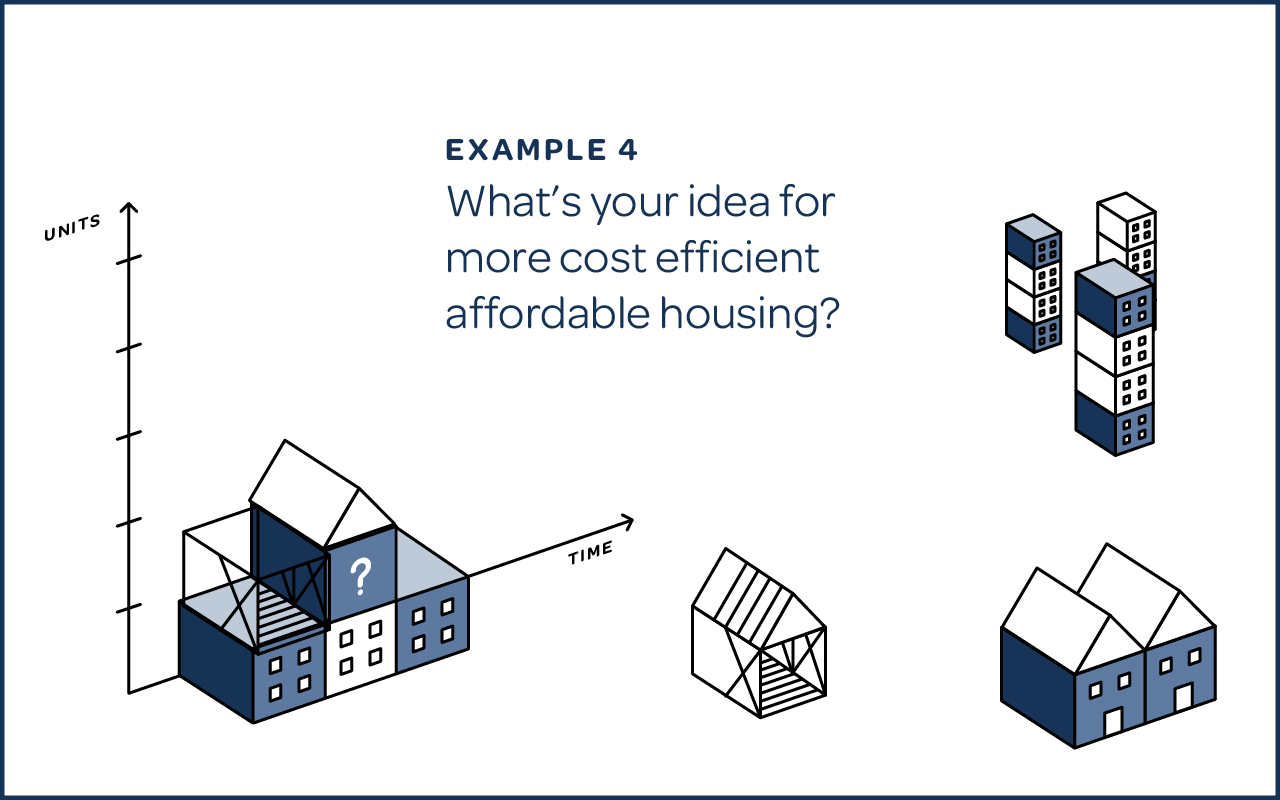 Whats your idea for more cost efficient affordable housing?