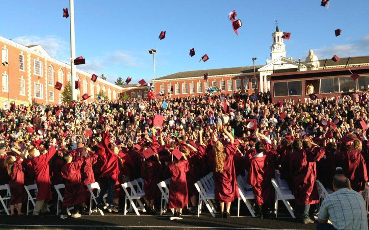 The Franklin High School Class of 2013, celebrating on graduation day. Photo credit: Matt Morton