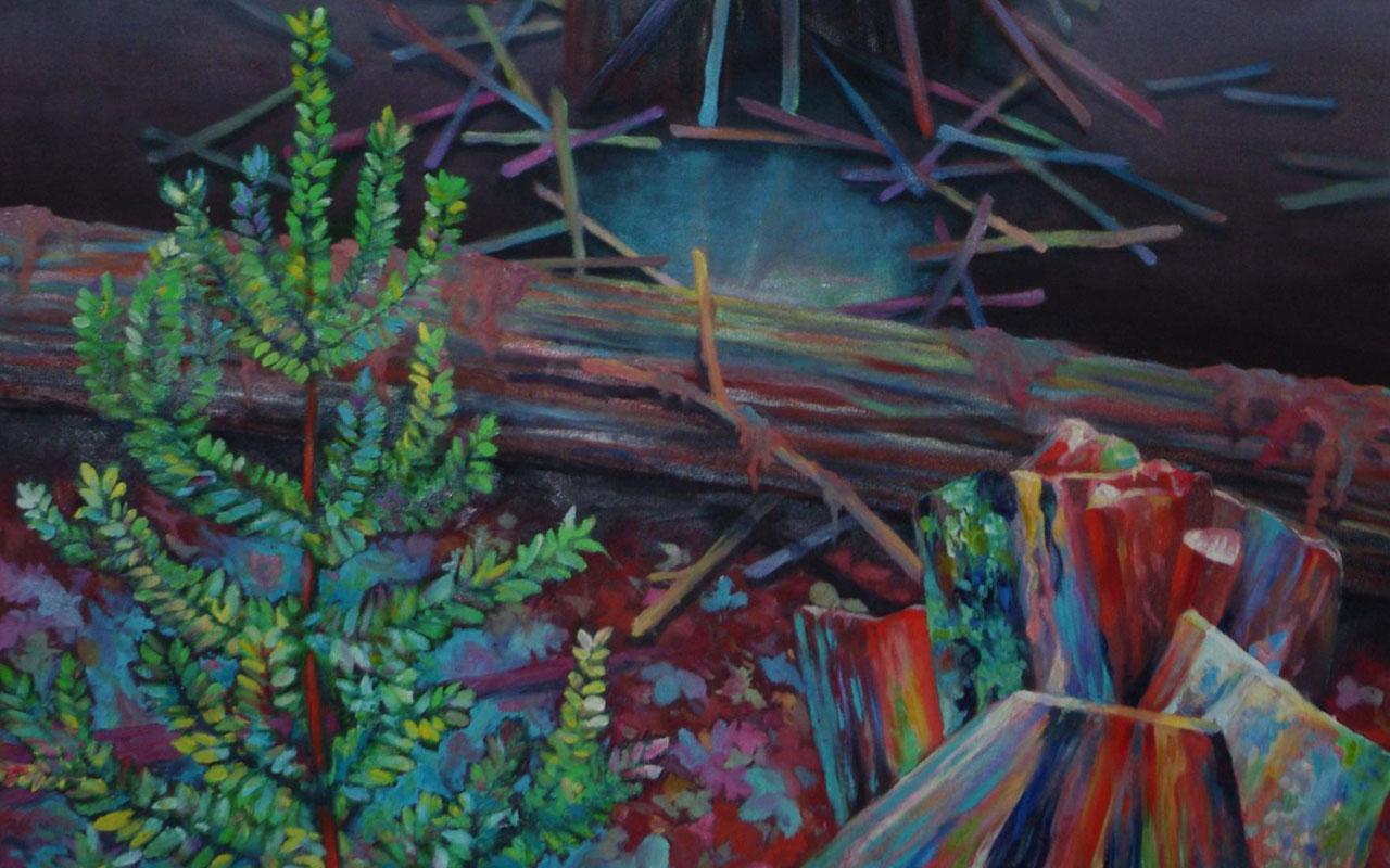 A pastel painting of an environmental.
