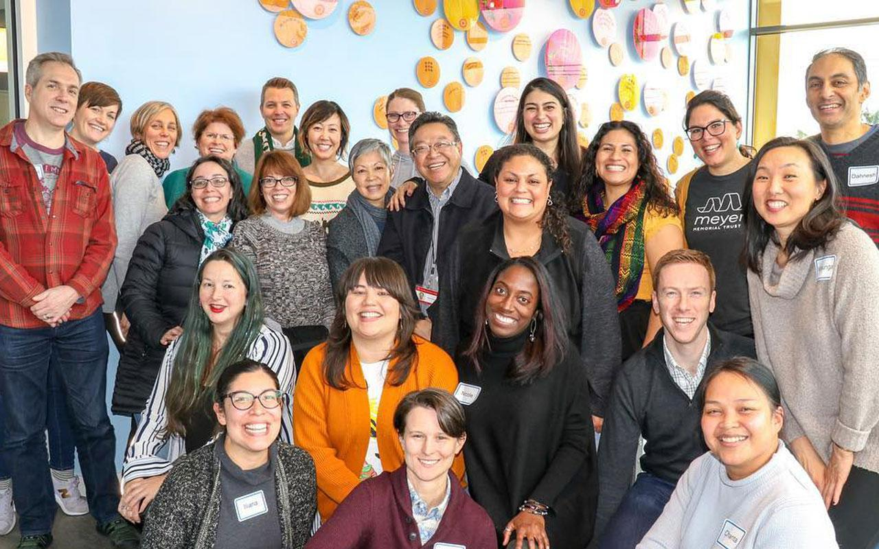 Meyer staff and Asian Health & Service Center CEO Holden Leung, attended a two-day program team retreat to delve deeper into equity work and programmatic strategy.