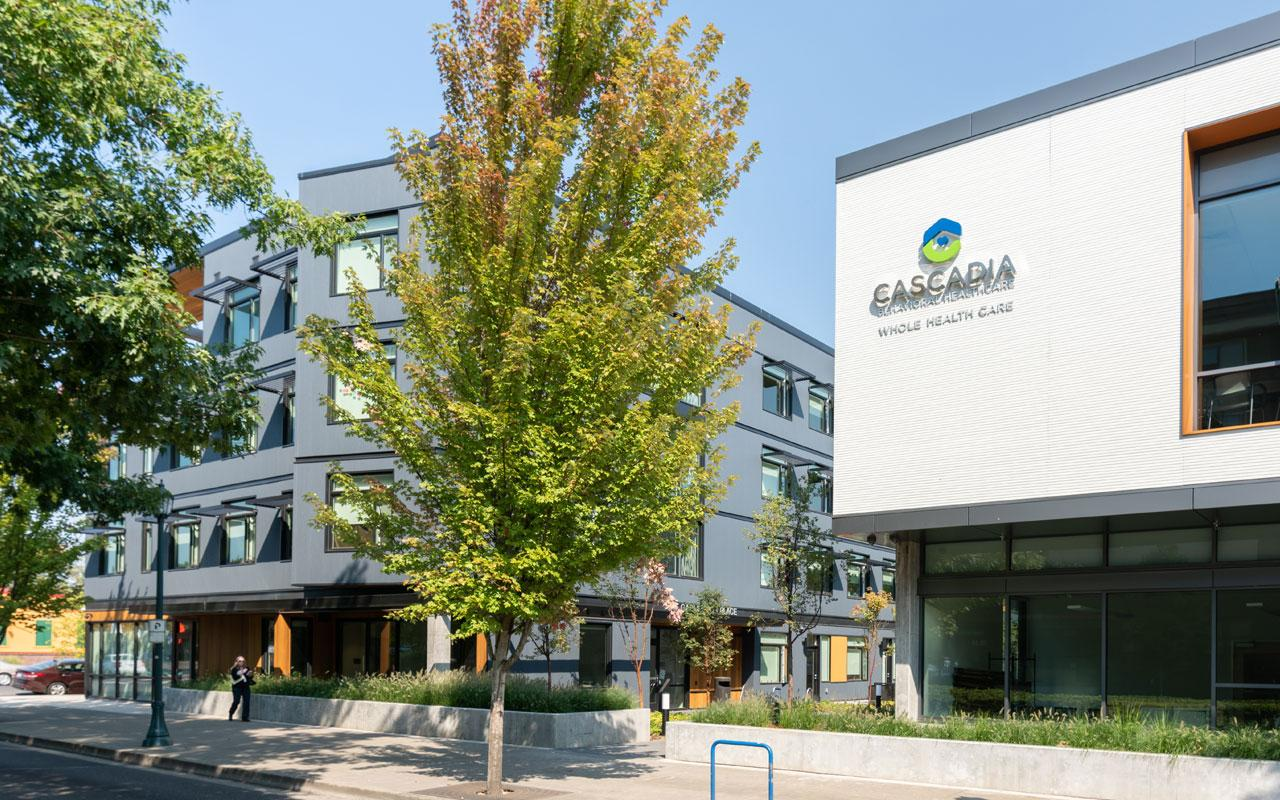 Cascadia Behavioral Health's Garlington Campus in North Portland is home to the Garlington Health Center, an integrated health clinic offering primary care, mental health and addiction services; and Garlington Place, a 52-unit affordable housing complex.